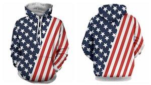 zs4ZG American Spring suéter vestido Pareja bandera jersey de manga larga impreso pareja traje suéter con capucha 3d digital para los hombres