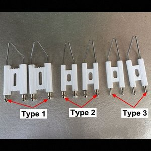 Doppel-Pole Zündelektrode, Brennen Maschine Heizöl Gas-Ofen, Funkenzünder, Otto Nadel, Keramik Zündnadel HAS1 #
