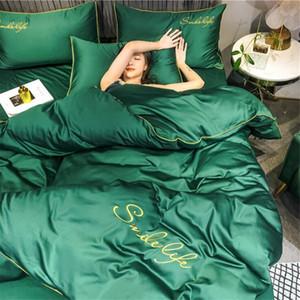 Hochwertige Mode Bettwäsche-Sets Bettwäsche-einfache Art Bettbezug flaches Blatt Bettwäsche-Set Winter-König Queen-Bett-Set 2020