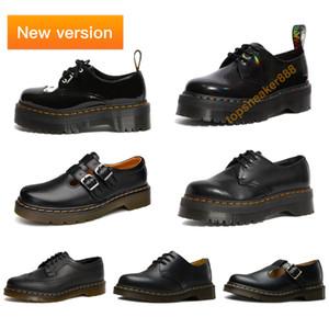2020 Новый Мартин обувь 1461 Радуга Патентный платформы Гладкие платформы обувь ЕС 35-46 Черный Белый Красный Человек Мартин Женщины обувь люкс