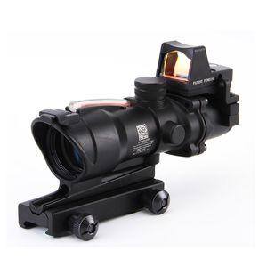 ACOG Art-4X32 Schwarz Tactical Optic Red Illuminated Mit RMR Rotpunktvisier Jagd Rifle