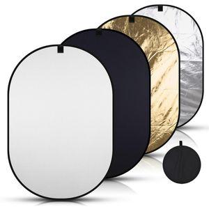 150 * 200cm 사진 라이트 타원형 사진 다중 반사판 디스크 휴대용 블루 그린 백 드롭 축소 배경 크로마 키 패널