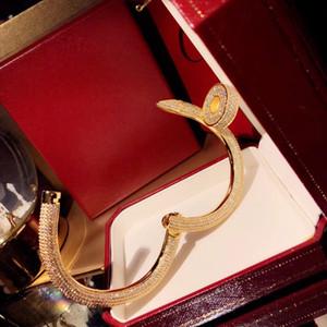 Bracciale marchio 2019Popular S925 argento chiodo braccialetto placcato grossa vite chiodo braccialetto di tendenza dal design classico ballo di modo coppie del partito di lusso