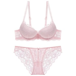 manufacturers direct sales autumn and winter Europe and the United States women and girls underwear thin under thick lace collection bra set