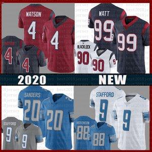 DetroitLionsTexansHouston 4 Deshaun Watson Jersey Matthew Stafford 20 Barry Sanders J. J. Watt T. J. Hockenson Jadeveon Clowney