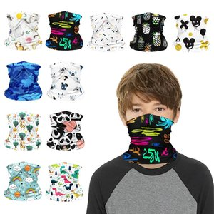 Children Face Shield Protective Mask Designs Riding Magic Scarf Bandana Headband Neck Gaiter Pm2 .5 Filter Turban DHC2374