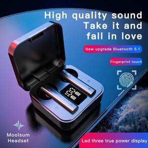 Air2S Kablosuz TWS Kulaklık Bluetooth Kulaklık 5.1 Su geçirmez Gürültü Azaltma Dijital Görüntü Işık Görüntü Mini Kulaklık X9