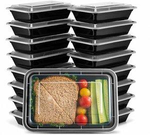 [20 Pack] 28 once comparto singolo pasto Prep contenitori con coperchi - Food Storage Containers Bento, Pranzo contenitori Microwavable Fk6a #