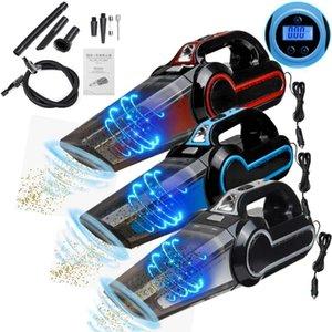 4 In 1 Car Vacuum Cleaner Vacuuming Automobile Auto Handheld Vacuum Prowerful Cleaner Wet Dry Tire Inflator Pump Pressure Gauge
