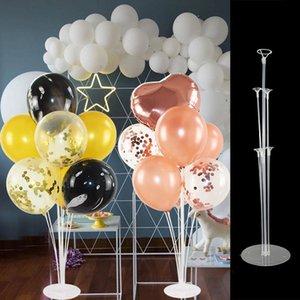 70cm DIY 풍선 아치 8 웨딩 풍선 백 드롭 호의 생일 파티 장식 어린이를위한 7 튜브 풍선 홀더 열 스탠드