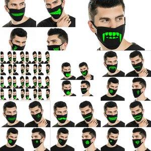 Маски в Dark неопрен Half Face Mask Череп Glow конструктора Оптовые Мужские Дешево Home003 Nhxdm