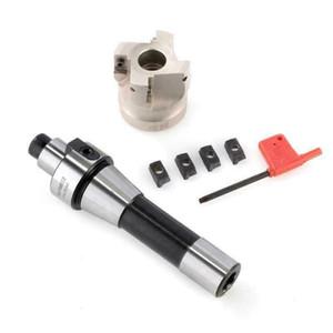 US SHIPPING R8-FMB22 высокой твердости 4шт APMT1604 Carbide 400R Вставки 50MM Face End Mill Cutter R8 ~ FMB22