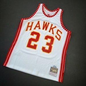 Cosido Lou Hudson Mitchell Ness 72 73 ATL tamaño de Jersey jerseys baratos 100% XS-5XL Top Baloncesto