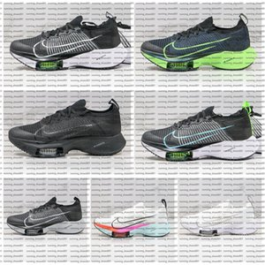 Nike air Zoom Tempo NEXT% Marathon Running Shoes 2020 Knit White Black Hyper Violet Flash Crimson Spruce Aura Electric Green Mens Outdoor Sneakers