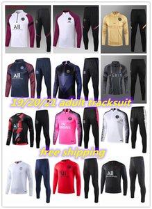 2020 2021 2019 Paris futbol antrenman takım uzun MBAPPE CAVANI 19 20 21 maillot de ayak paris futbol yetişkin eşofman seti sleeve