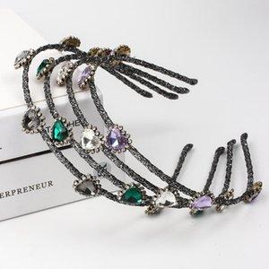 Colorful capelli del cerchio del Rhinestone fascia Hairband per Crystal banda ragazza delle donne lunetta Capelli Sposa Diademi scrunchies Accessori