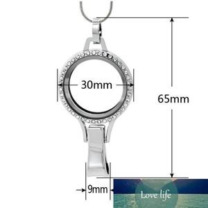 Silber Floatglas-Schwimm Medaillon Lanyard Momory Medaillon Lanyard Anhänger-passende Schwimmdock Charms Schmuck LSFL035-51