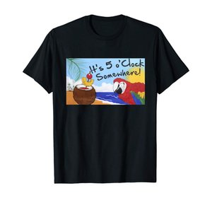 T-Shirt Es ist 5 Uhr irgendwo Partei Parrot Margaritaville Jimmy Buffett Flagge für Happy Hour Margarita