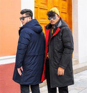 Palto Uzun Kollu Casual Parkas Artı boyutu Mens Tasarımcısı Parkas Moda Katı Renk Kalın Isınma