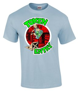 Token de entrada T-shirt por Chris Shary. Limited (300) Rare Oficial NYHC Sxe