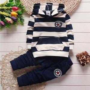 BibiCola meninos roupas de outono hoodies treino infantis t-shirt + calças outfits toddle algodão bebe esporte veste terno