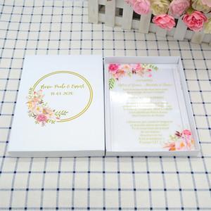 UV printing clear acrylic wedding invitation with invitation box