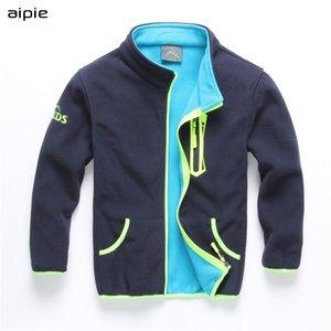 Casual Sólidos jaquetas de lã double tecido de aipie Crianças menino por 5-14 anos de idade as crianças usam casacos roupa