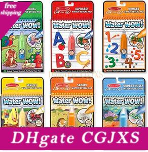 Magic Book abreuvoirs Livre à colorier avec Doodle Pen peinture Board Juguetes pour les enfants Education Dessin Toy 6 couleurs