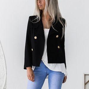 Blanc Blazer noir slim femme moulante à manches longues Blazer Blazers de bureau Lady Femme Outwear Femme Automne Hiver Manteaux Femmes