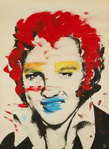 Mr. Brainwash Graffiti sanatı Elvis Presley Ev Dekorasyonu Handpainted HD Yağ Tuval Wall Art Canvas Pictures 200814 On Boyama yazdır