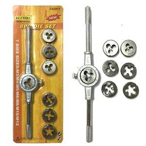 Die Llave juego de tornillos de rosca Tap Die Set externo de corte Tapping mano conjunto de herramientas de rosca Maker Tap métricas Wrenchs