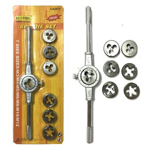 Die Wrench Kit Screw Tap Die filettatura Set esterno Tapping a mano serie di strumenti Discussione Maker Tap metriche Wrenchs