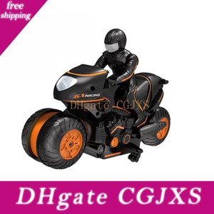 Enfants « ; S haute -Vitesse Télécommande Trottoir Stunt Moto télécommande Stunt Car Drift 2 Racing enfants .4 GHz »; S-cadeau