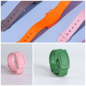 Hand Sanitizer Bracelets Wash Free Silicone Watches Liquid Soap Wristbands For Children Fine Workmanship Mix Colors Eco Friendly 6wh F2