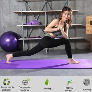1830 * 610 * 10mm NBR Yoga Mat Kaymaz Halı Spor Çevre Jimnastik Paspaslar Pilates Spor Spor Egzersiz Pedleri Acemi