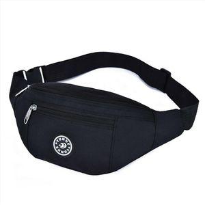 New Fashion Men Women Waist Bum Bag Fanny Pack Belt Money Pouch Wallet Zip Travel Hiking Bag Black Blue Red Gray