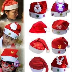 Warehouse wholesale Men Women Christmas Decorations Christmas adult Red Ordinary Santa Hat Santa Claus Children Santa Hat free .