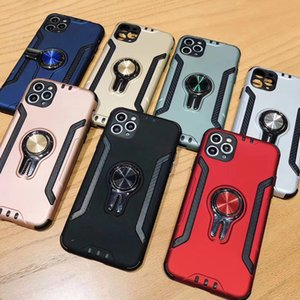 Suitable for iphone11 x xs xr mobile phone shell armor protective cover 6s 7 + magnetic car ring bracket protective shell