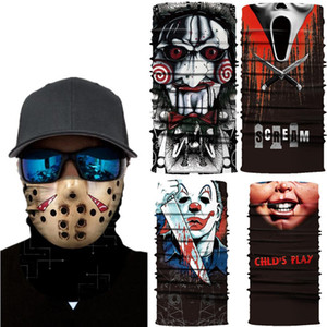 5 Setyles Nightmare on Elm Street Face Mask Esternal Cycling Magic Founcher Bib Bib 3D Sciarpa di seta Sciarpa senza cuciture Stampa protettiva viso protettivo