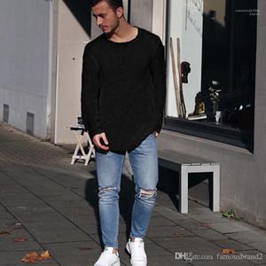 Designer a maglia magliette Solido Colore semplice casuale Partita Maglione Top Maniche lunghe Autunno Tees Uomo Autunno
