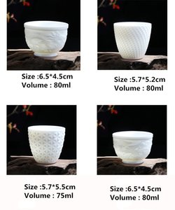 Dragon Phoenix Tea cup Ceremony Drinkware Teaware Jade Porcelain Lotus TeaCup 90ml Tea Master Health Small