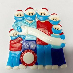 2020 Nome fai da te Benedizioni 3D pupazzo di neve albero di Natale appeso a sospensione in PVC Spot Maschera Nuovo Decorazioni di Natale Babbo Natale nave veloce OOA9684