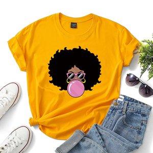 Woman Pattern Print T-shirt Summer 100% Cotton Casual Short Sleeve Hip Hop Fashion Streetwear Tee Casual Clothing