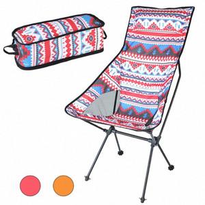 Hooru Dossier Chaise Beach Randonnée Pêche Pliante Chaise Portable Portable Portable Passable Camping Chaises avec sac de transport Pxoe #