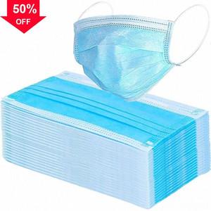 PM2.5 Tek4j negro de tela no tejida Profesión desechable de 4 capas transpirable boca suave elástico a prueba de polvo facial máscara wrXv #