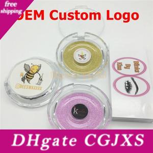 Oem Custom Logo Sticker Service 3d Mink Eyelashes Magnetic Eyelashes Private Logo False Eyelash Logo Makeup