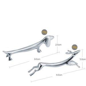 Running Deer Hund Essstäbchenhalter Zink-Legierung Löffelhalter Metall-Gabel Ständer Messer Rack-Podeste Tabelle Dekorative 3 8sha C2