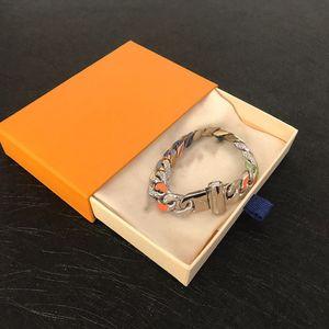 Top-bunter Diamant-Armband Paar Armband Diamant wilder Halsketten-Qualitäts Titanstahlarmband sendet Box
