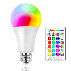 Regulável do bulbo 3W 5W 10W B22 E27 lâmpada LED Hight Brilho 980LM branco RGB Bulbo 220 270 de Ângulo com controlo a distância