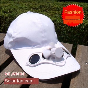 ventilatore Protezione solare cappello di protezione solare per gli uomini delle donne della protezione solare e sole Fan crema solare cappello cap pubblicità SolarFanCap ed3Hm
